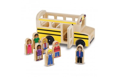 Melissa & Doug School Bus Wooden Play Set With 7 Play Figures Deal