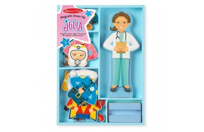 Melissa & Doug Julia Magnetic Dress-Up Wooden Doll Pretend Play Set (25+pc) Deal