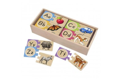 Black Friday 2020 Melissa & Doug Self-Correcting Alphabet Wooden Puzzles With Storage Box 27pc Deal