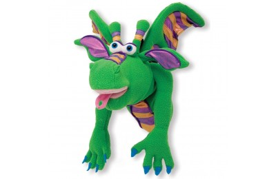Black Friday 2020 Melissa & Doug Smoulder the Dragon Puppet With Detachable Wooden Rod for Animated Gestures Deal