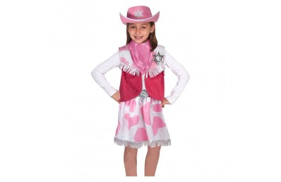 Black Friday 2020 Melissa & Doug Cowgirl Role Play Costume Set (5pcs) - Skirt, Hat, Vest, Badge, Scarf, Adult Unisex Deal