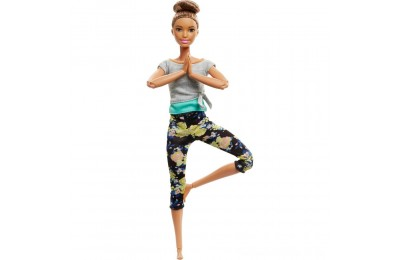 Black Friday 2020 Barbie Made To Move Yoga Doll - Floral Blue Deal