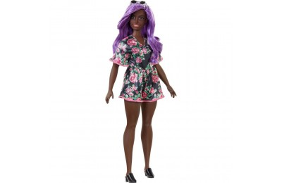 Barbie Fashionistas Doll #125 Black Floral Dress Deal