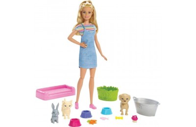 Black Friday 2020 Barbie Play 'n' Wash Pets Doll and Playset Deal