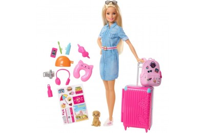 Black Friday 2020 Barbie Travel Doll & Puppy Playset Deal
