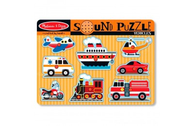 Melissa & Doug Vehicles Sound Puzzle - 8pc Deal