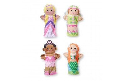 Melissa & Doug Storybook Friends Hand Puppets (Set of 4) - Princess, Fairy, Mermaid, and Ballerina Deal