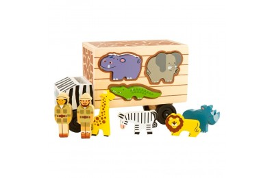 Melissa & Doug Animal Rescue Shape-Sorting Truck - Wooden Toy With 7 Animals and 2 Play Figures Deal