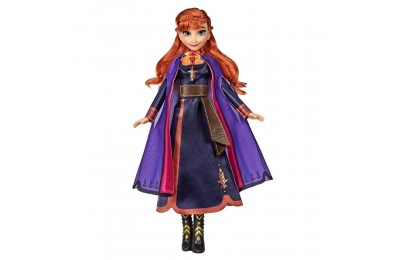 Black Friday 2020 Disney Frozen 2 Singing Anna Fashion Doll with Music Wearing a Purple Dress Deal
