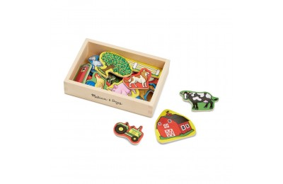 Black Friday 2020 Melissa & Doug Wooden Farm Magnets with Wooden Tray - 20pc Deal