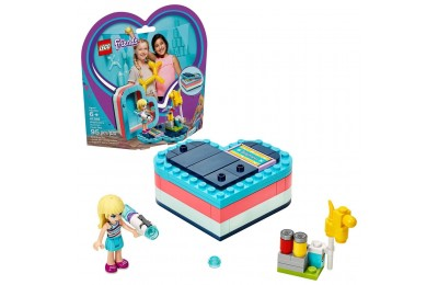 LEGO Friends Stephanie's Summer Heart Box 41386 Portable Toy Building Set, Stephanie Mini Doll 95pc Deal