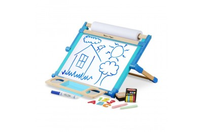 Melissa & Doug Double-Sided Magnetic Tabletop Art Easel - Dry-Erase Board and Chalkboard Deal