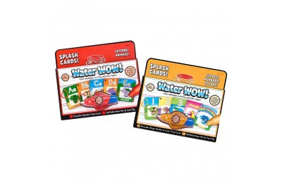 Melissa & Doug On the Go Water Wow Splash Cards, 2-Pack - Alphabet and Numbers and Colors Deal