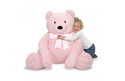 Melissa & Doug Jumbo Pink Teddy Bear Stuffed Animal (2 feet tall) Deal