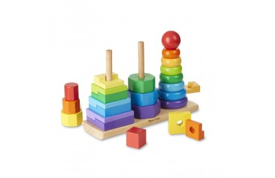 Black Friday 2020 Melissa & Doug Geometric Stacker - Wooden Educational Toy Deal
