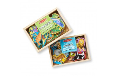Melissa & Doug Wooden Magnets Set - Animals and Dinosaurs With 40 Wooden Magnets Deal