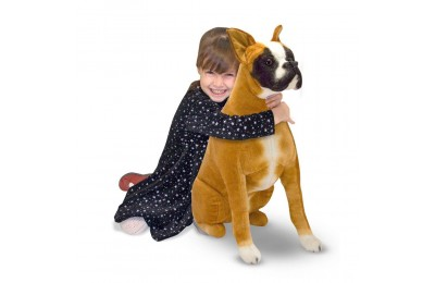 Melissa & Doug Giant Boxer - Lifelike Stuffed Animal Dog Deal