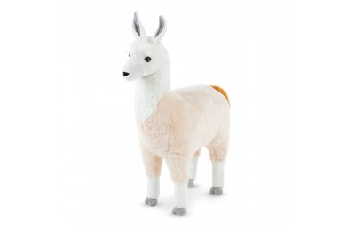 "Melissa & Doug Standing Lifelike Plush Llama Stuffed Animal (31"" x 30 "" x 9.5"") Deal"