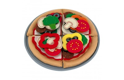 Melissa & Doug Felt Food Mix 'n Match Pizza Play Food Set (40pc) Deal
