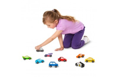 Melissa & Doug Wooden Car Set Deal