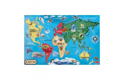 Melissa And Doug World Map Jumbo Floor Puzzle 33pc Deal
