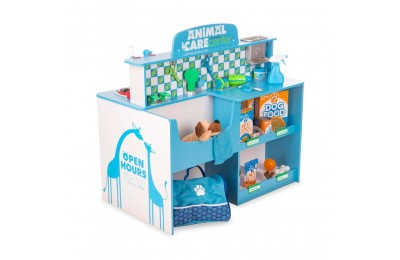 Melissa & Doug Animal Care Veterinarian and Groomer Wooden Activity Center Deal