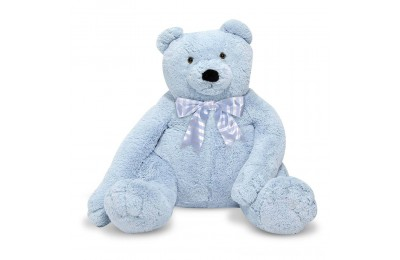 Melissa & Doug Jumbo 2' Teddy Bear - Blue Deal