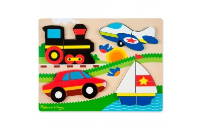 Melissa & Doug Chunky Jigsaw Puzzle - Vehicles 20pc Deal
