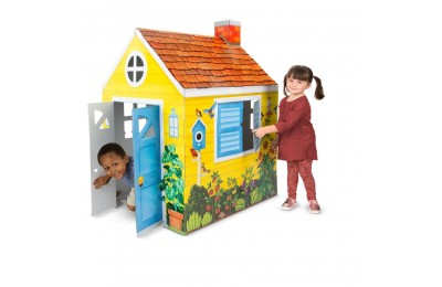 Black Friday 2020 Melissa & Doug Country Cottage Indoor Corrugate Playhouse (Over 4' Tall) Deal