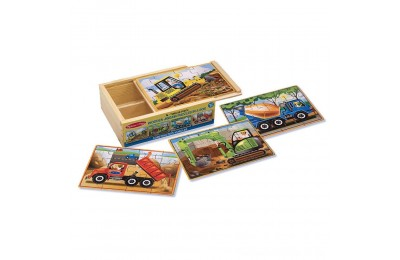 Black Friday 2020 Melissa & Doug Construction Vehicles 4-in-1 Wooden Jigsaw Puzzles (48pc) Deal