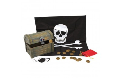 Melissa & Doug Wooden Pirate Chest Pretend Play Set Deal