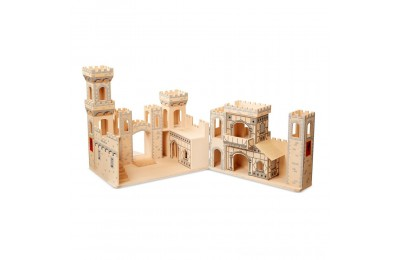 Melissa & Doug Deluxe Folding Medieval Wooden Castle - Hinged for Compact Storage Deal