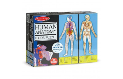 Black Friday 2020 Melissa And Doug Human Anatomy 2-Sided Jumbo Floor Puzzle 100pc Deal