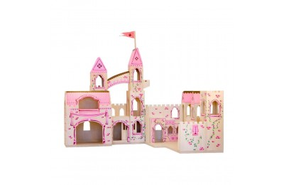 Melissa & Doug Folding Princess Castle Wooden Dollhouse With Drawbridge and Turrets Deal