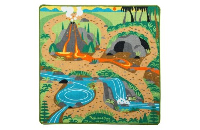 "Melissa & Doug Prehistoric Playground Dinosaur Activity Rug (39 X 36"") - 4 Toy Animals Toy Deal"