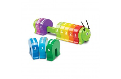 Melissa & Doug Counting Caterpillar - Classic Wooden Toy With 10 Colorful Numbered Segments Deal