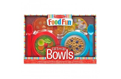 Black Friday 2020 Melissa & Doug Create-A-Meal Fill Em Up Bowls (12pc) - Play Food and Kitchen Accessories Deal