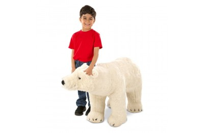 Melissa & Doug Giant Polar Bear - Lifelike Stuffed Animal (nearly 3 feet long) Deal