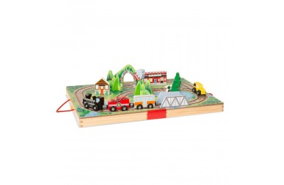Melissa & Doug Take-Along Railroad 17pc Deal