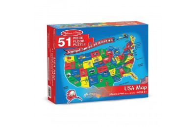 Melissa And Doug Usa Map Floor Puzzle 51pc Deal