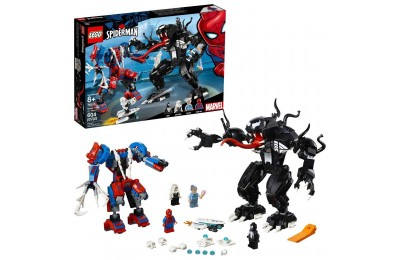 LEGO Marvel Spider Mech Vs. Venom Ghost Spider Superhero Playset with Web Shooter 76115 Deal