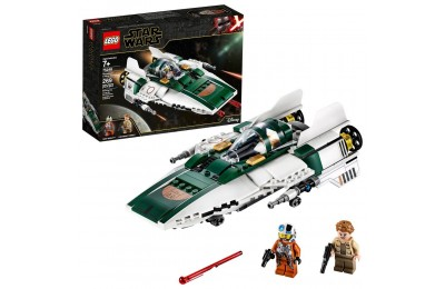 Black Friday 2020 LEGO Star Wars: The Rise of Skywalker Resistance A-Wing Starfighter 75248 Advanced Collectible Starship Model Building Kit 269pc Deal