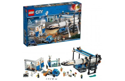 LEGO City Space Rocket Assembly & Transport 60229 Model Rocket Building Set with Toy Crane 1055pc Deal
