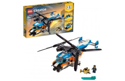 Black Friday 2020 LEGO Creator Twin-Rotor Helicopter 31096 Toy Helicopter Building Set with Submarine 569pc Deal