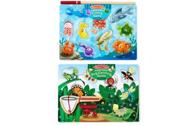 Melissa & Doug Magnetic Wooden Puzzle Game Set: Fishing and Bug Catching Deal