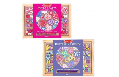 Black Friday 2020 Melissa & Doug Sweet Hearts and Butterfly Friends Bead Set of 2 - 250+ Wooden Beads Deal