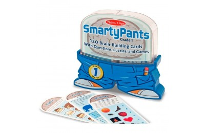 Melissa & Doug Smarty Pants 1st Grade Card Set - 120 Educational, Brain-Building Questions, Puzzles, and Games, Kids Unisex Deal