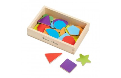 Black Friday 2020 Melissa & Doug 25 Wooden Shape and Color Magnets in a Box Deal
