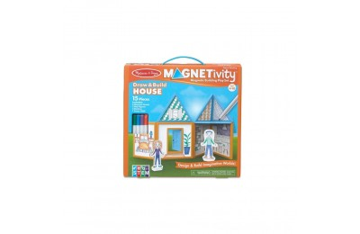 Melissa & Doug Magnetivity - Draw & Build House Deal