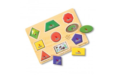 Melissa & Doug Assorted Shapes Sound Puzzle Set - 9pc Deal
